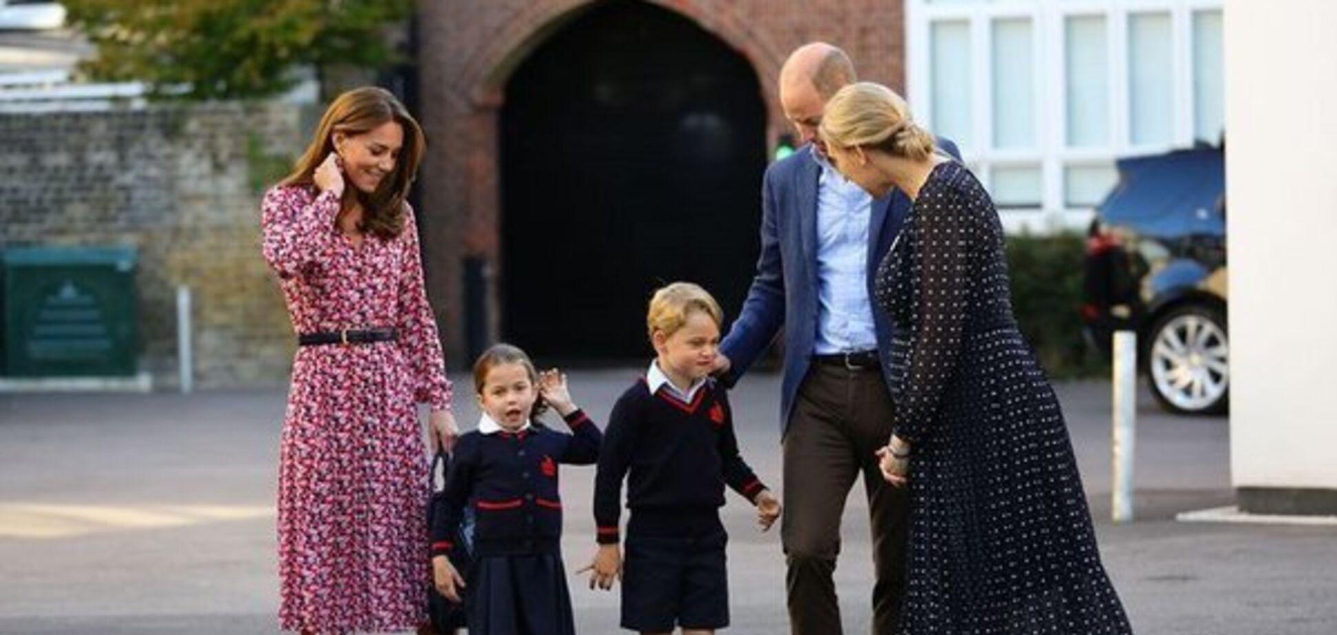 Дочь Уильяма и Миддлтон впервые пошла в школу: милое видео