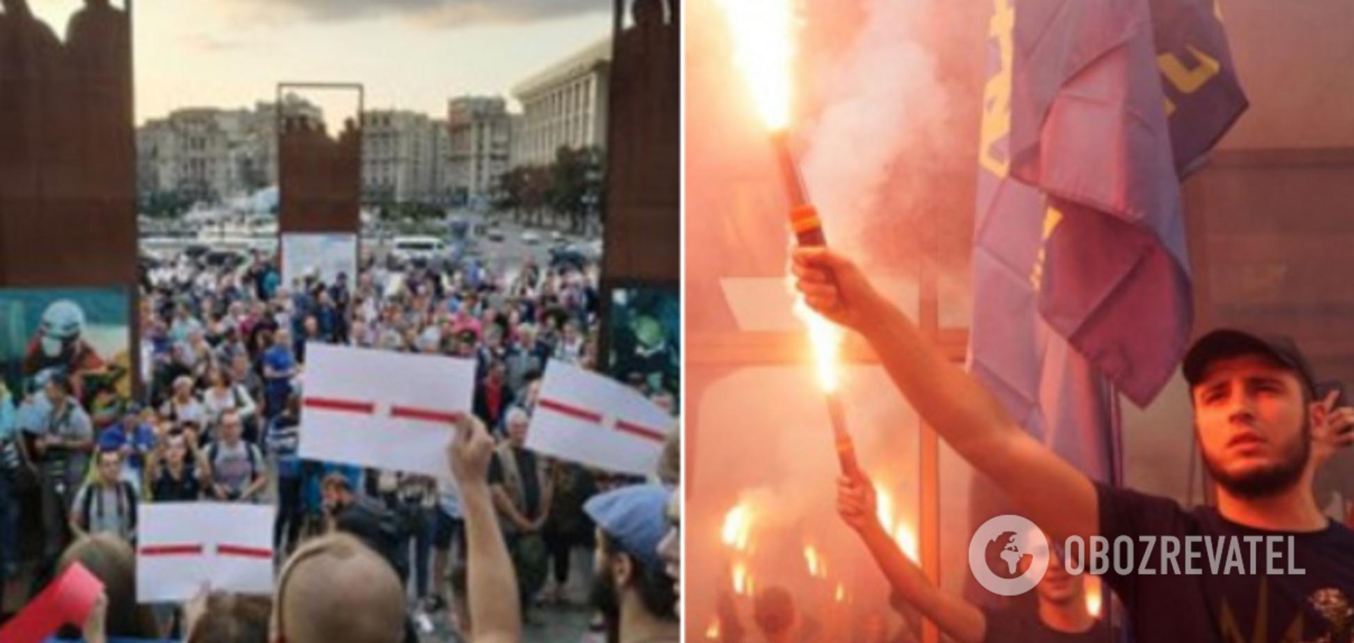 В Киеве прошли пикеты против освобождения Цемаха