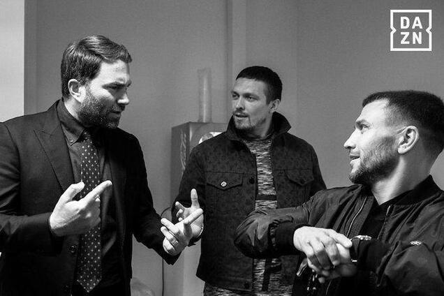 Едді Хірн, Олександр Усик і Василь Ломаченко