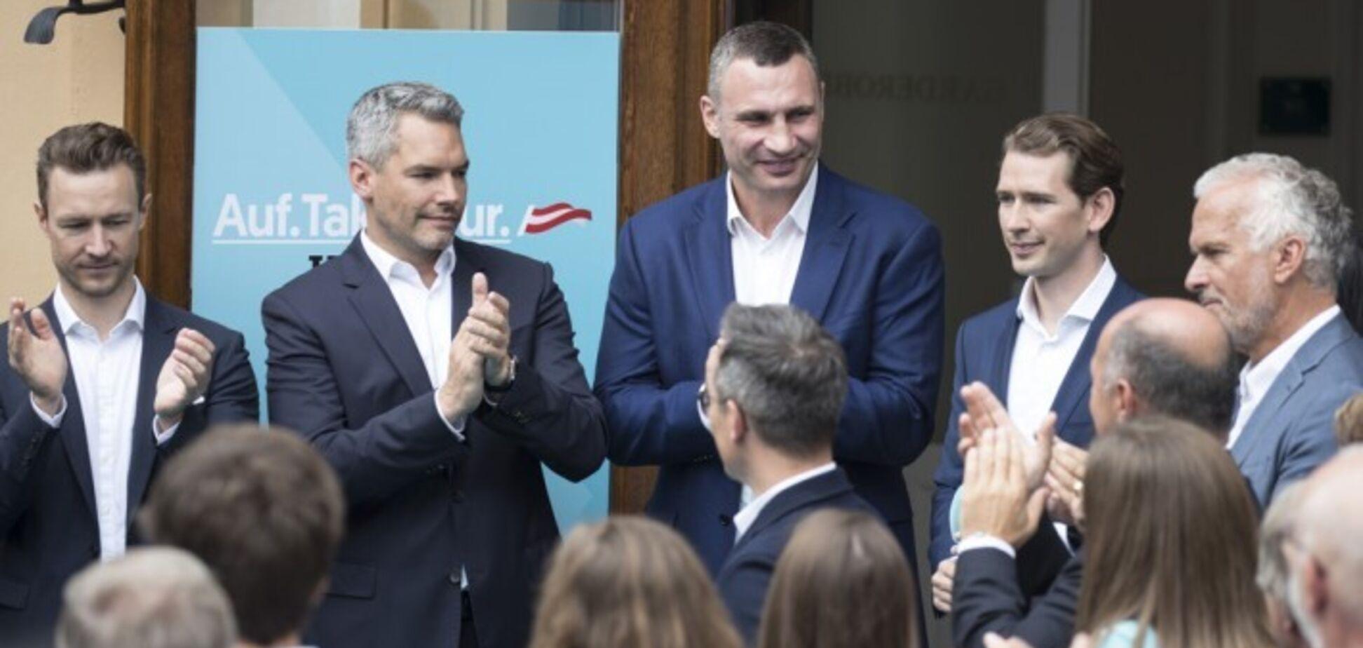 Кличко и Курц обсудили вызовы, стоящие перед Украиной и ЕС