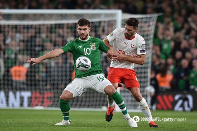 Ирландия - Швейцария - 1:1