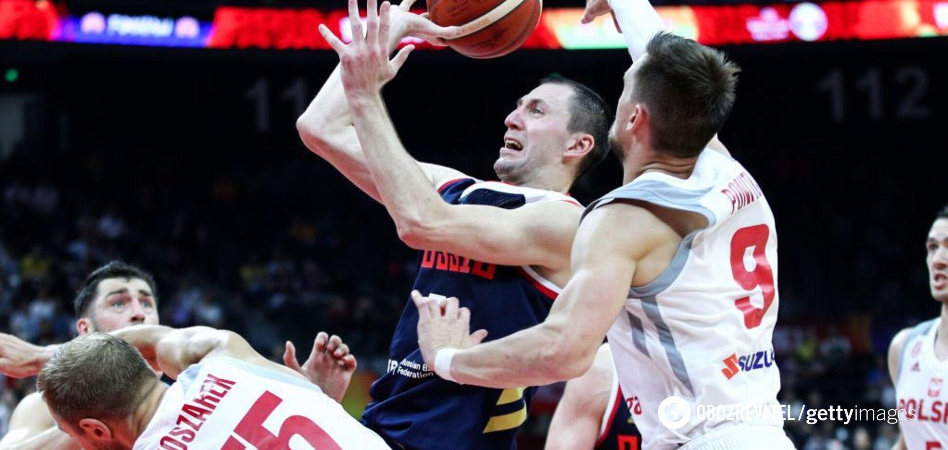 Росія достроково вилетіла з чемпіонату світу з баскетболу