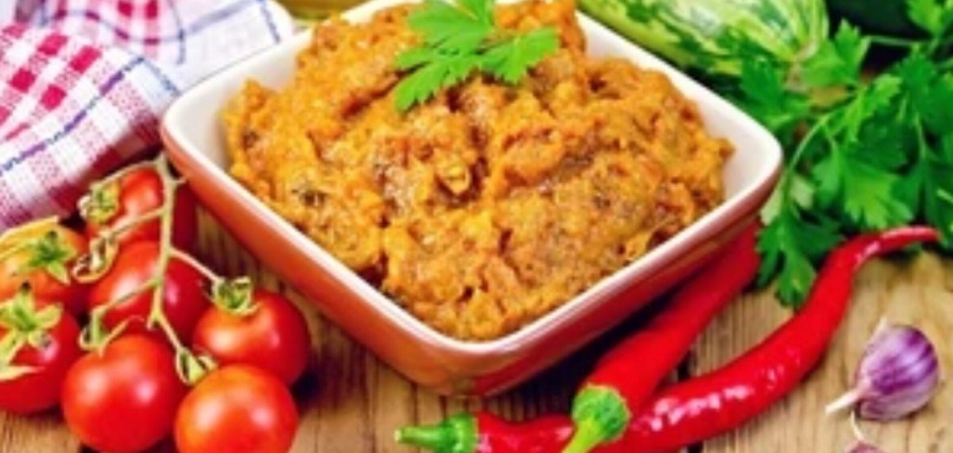 Рецепт очень вкусной закуски из баклажанов и кабачков