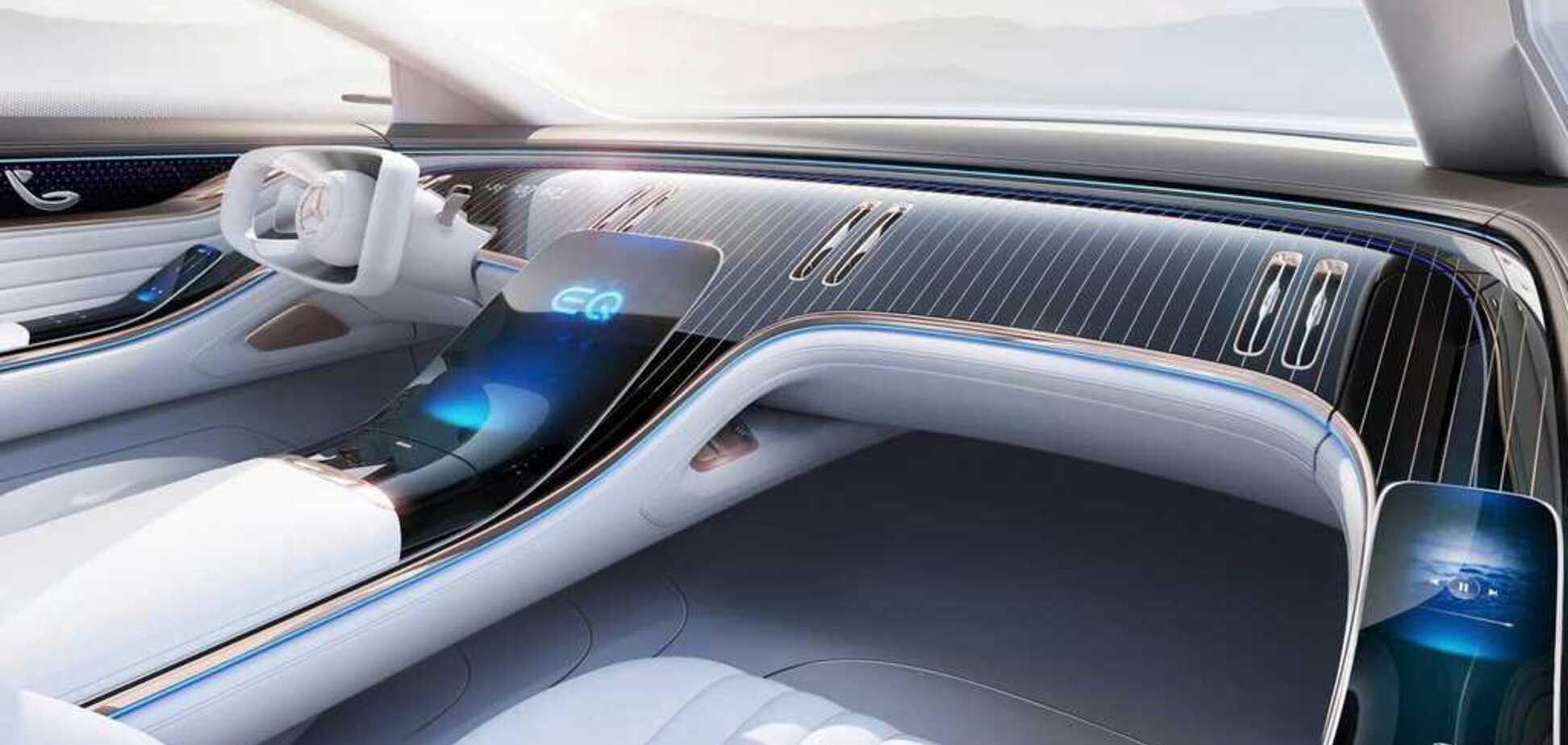 Mercedes показала футуристичний салон електрокара EQ