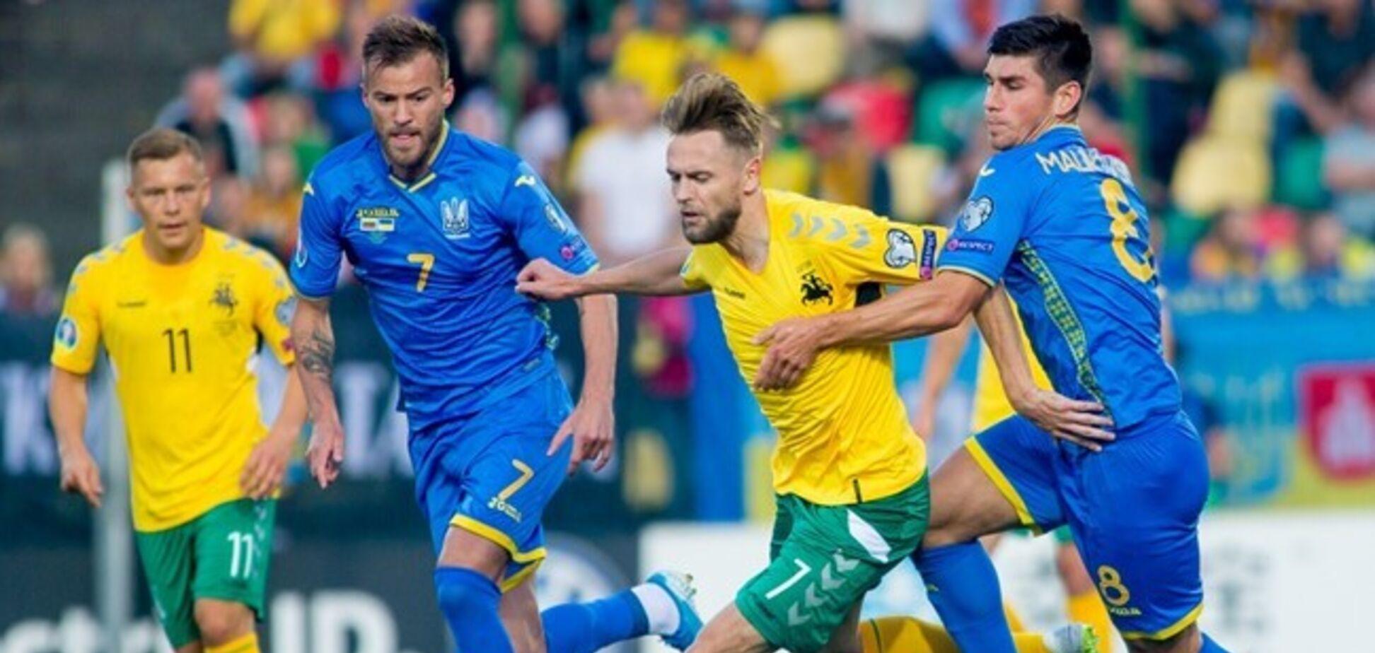 Украина добыла разгромную победу в отборе Евро-2020