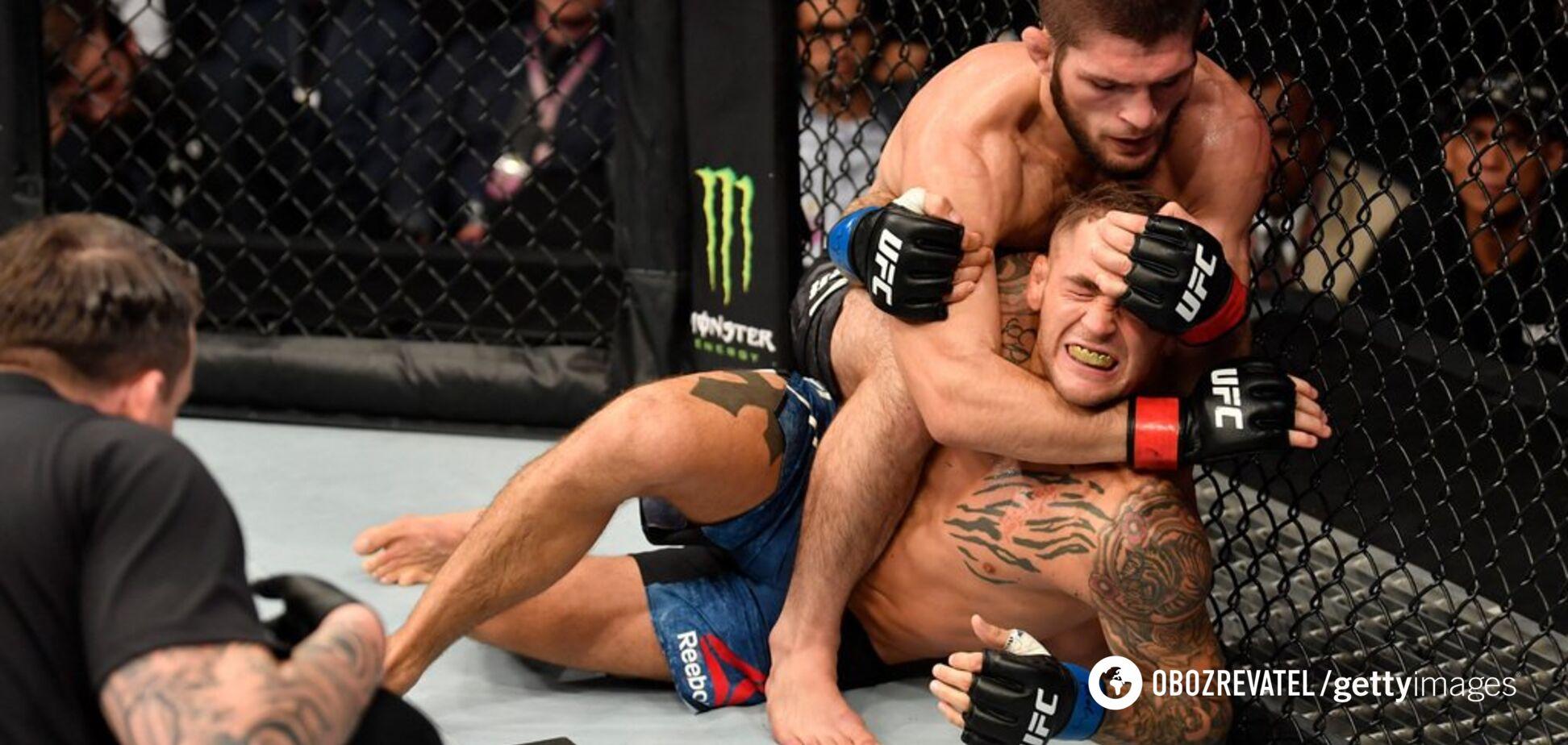 Хабиб задушил Порье в чемпионском бою UFC