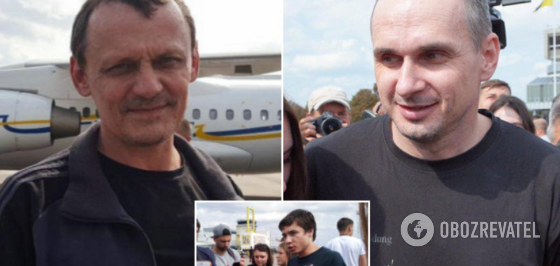 Сенцов, Гриб, Кольченко, Клых и Карпюк вернулись в Украину