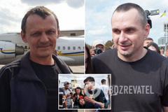 Сенцов, Гриб, Кольченко, Клих і Карпюк повернулися в Україну