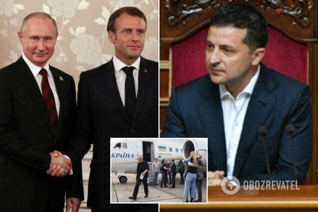 Путин и Макрон обсудили обмен пленными с Украиной