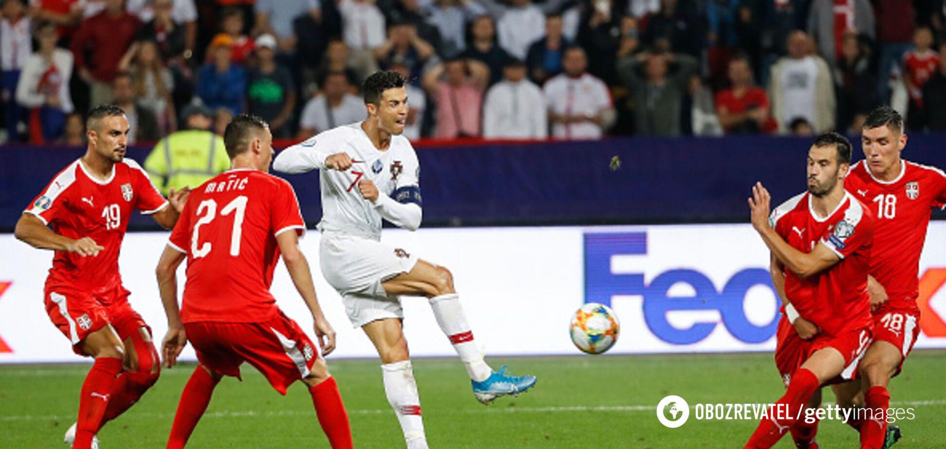 Отбор Евро-2020: Португалия и Сербия сыграли в пользу Украины
