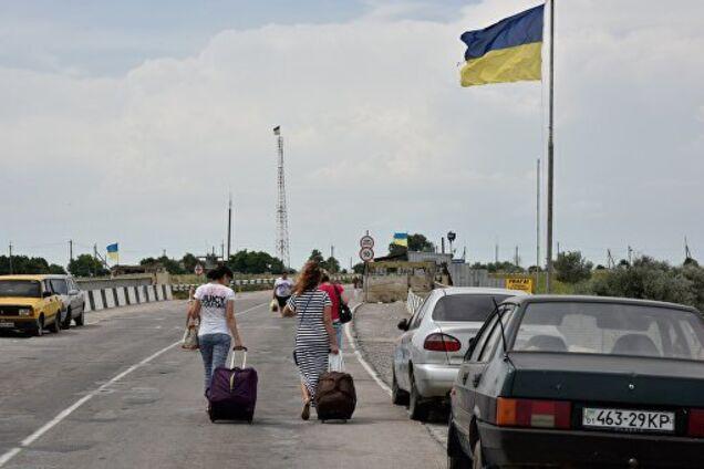 Граница Крыма с Херсонской областью
