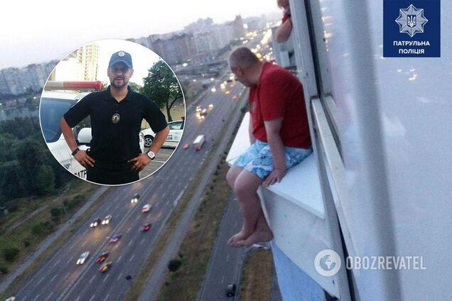 """У Києві чоловік на 17-му поверсі """"поставив на вуха"""" поліцію"""