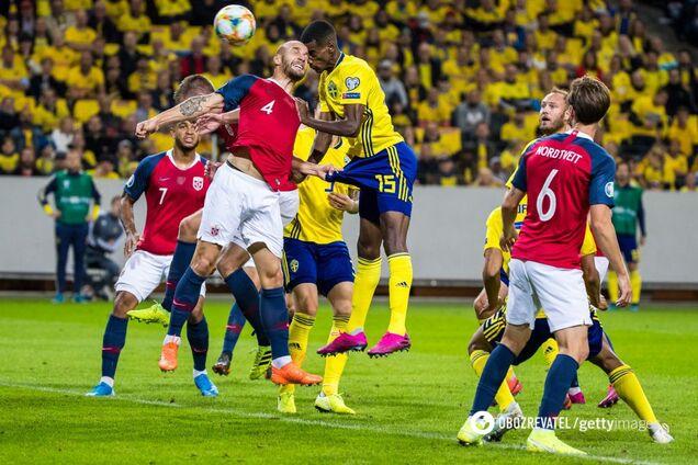 Швеция — Норвегия — 1:1
