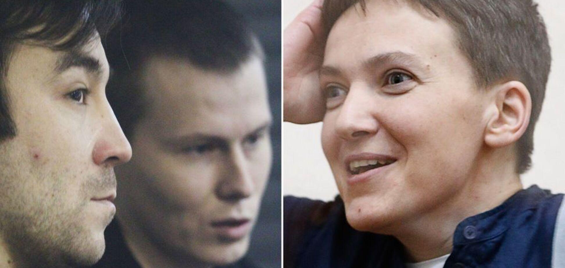 Евгений Ерофеев, Александр Александров и Надежда Савченко