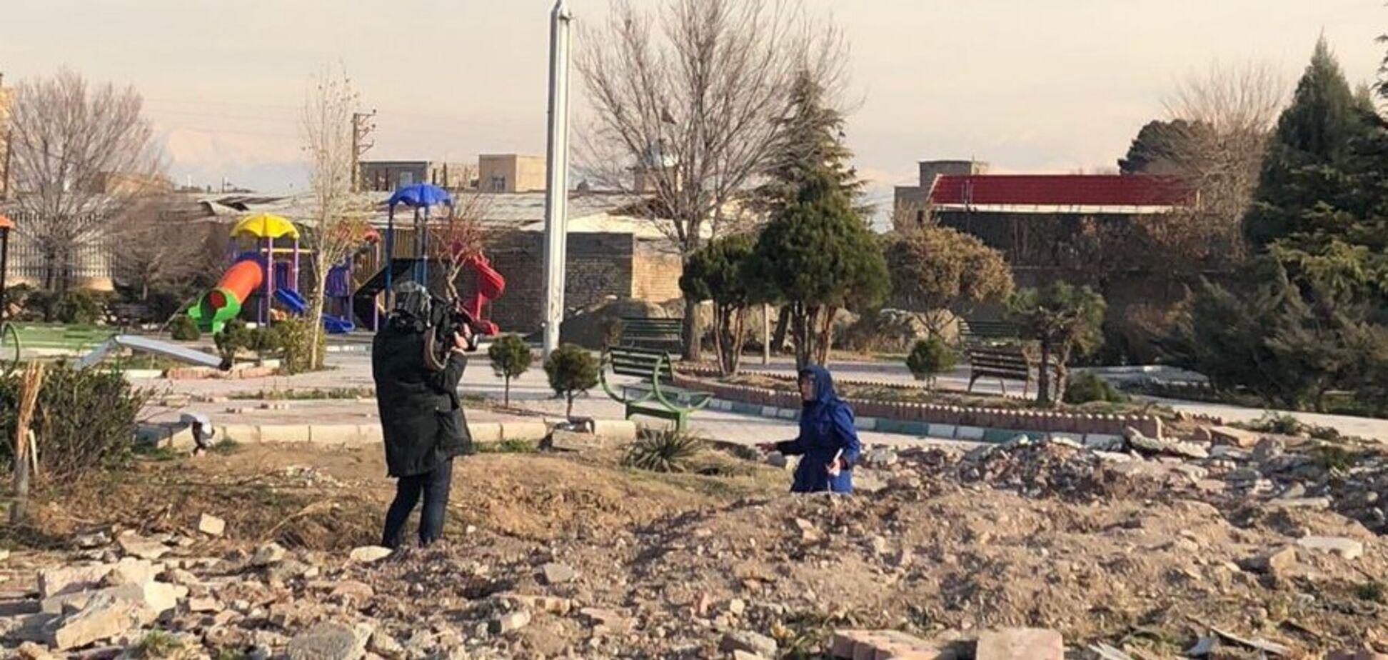 В Иране зачистили место катастрофы МАУ