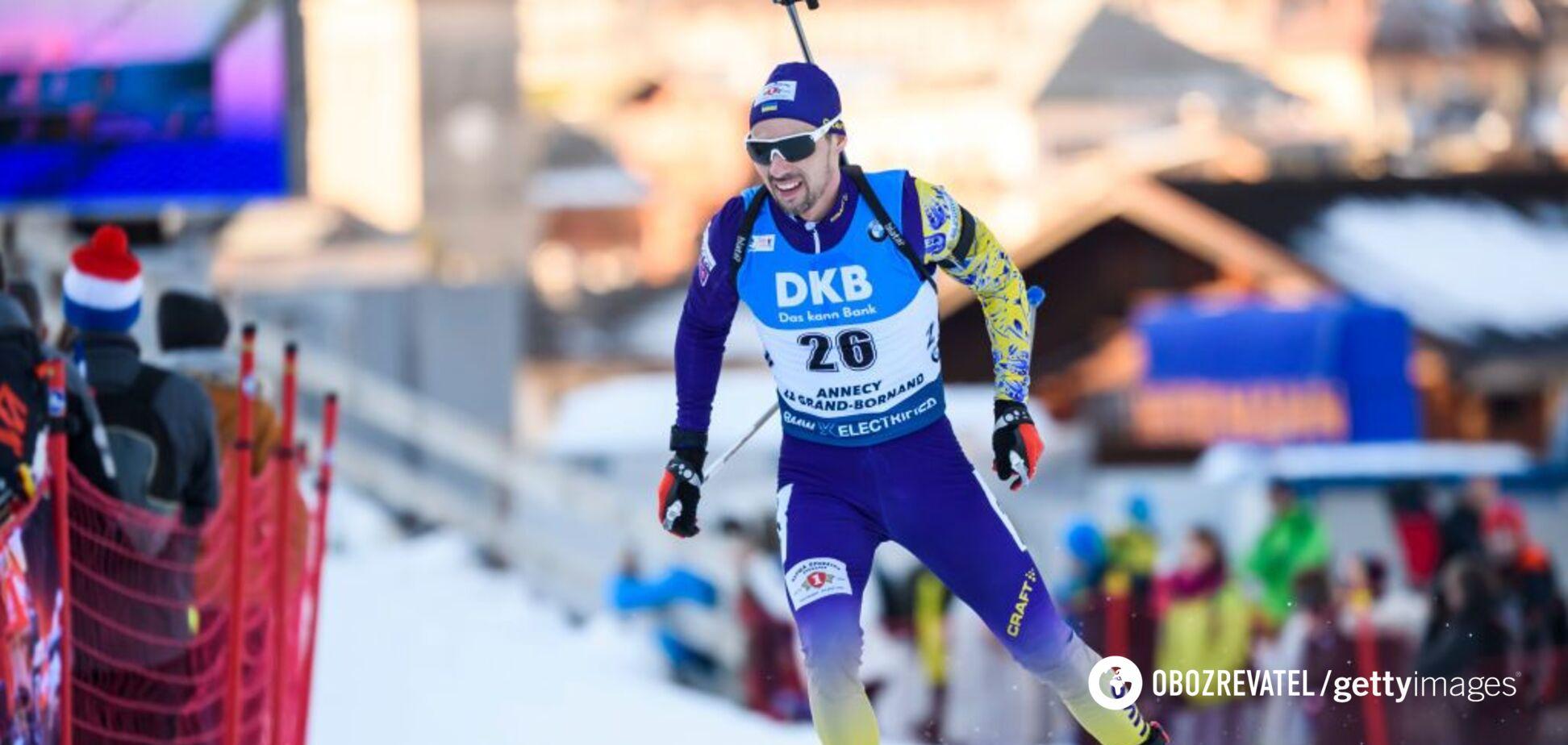 Українець фінішував у топ-15 спринту на Кубку світу з біатлону