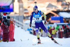 Украинец финишировал в топ-15 спринта на Кубке мира по биатлону