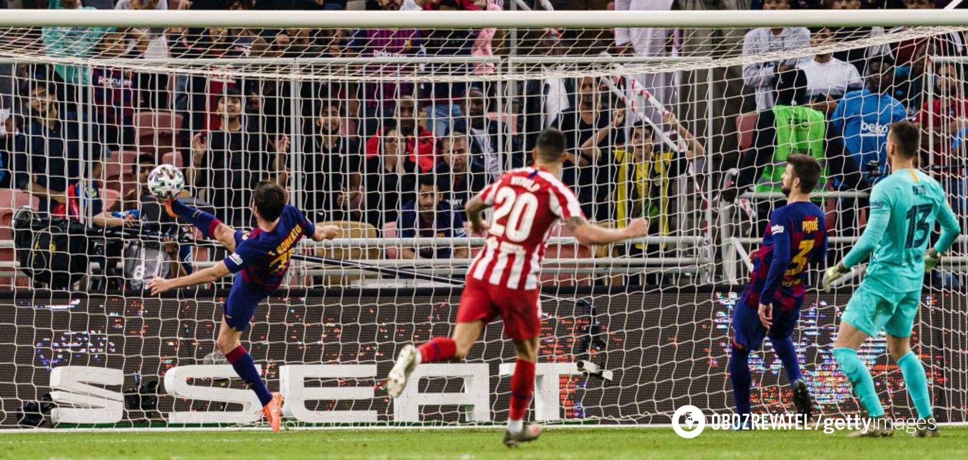 Победный гол 'Атлетико'