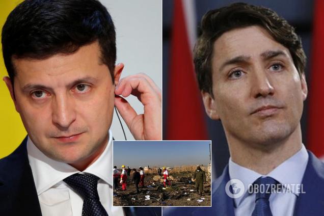 Зеленський і Трюдо обговорили авіакатастрофу в Ірані