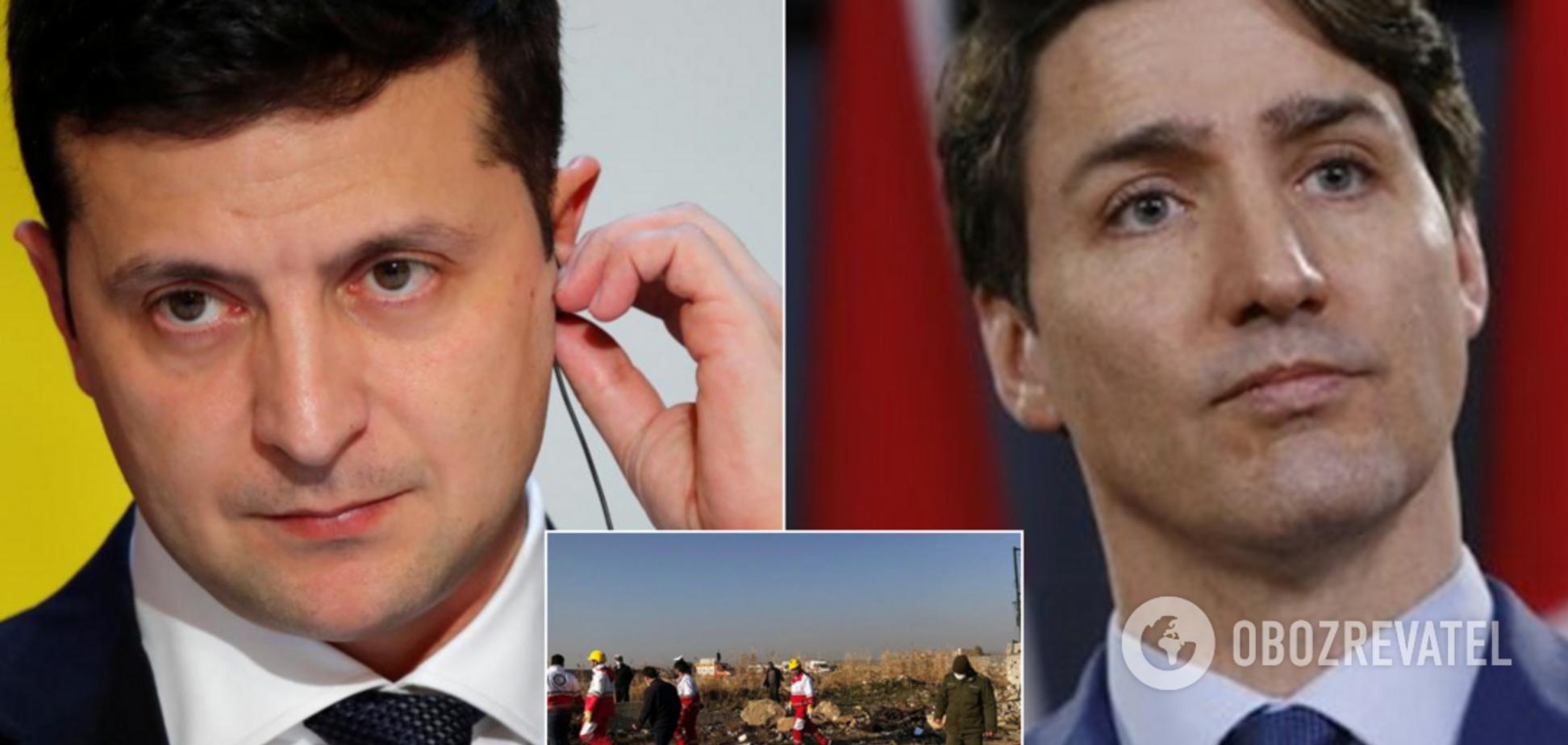Зеленський обговорив із Трюдо катастрофу українського літака в Ірані: подробиці