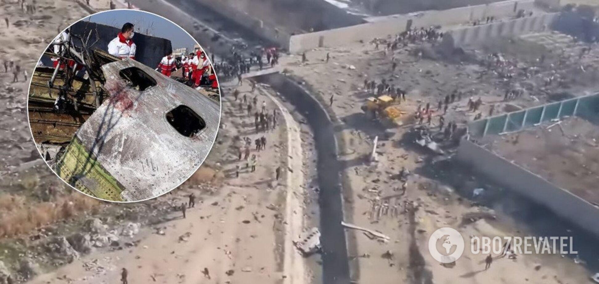 Місце падіння українського пасажирського літака