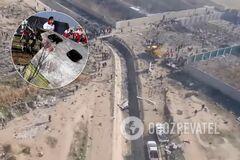 Место падения украинского пассажирского самолета