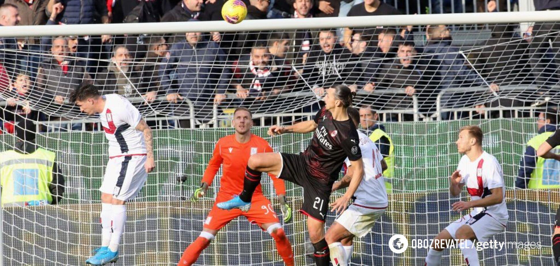 Ибрагимович забил за 'Милан' дебютный 'слепой' гол-шедевр