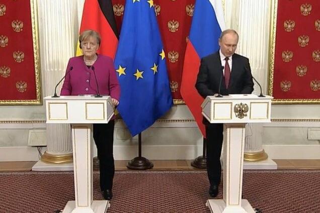 Пресс-конференция Меркель и Путина