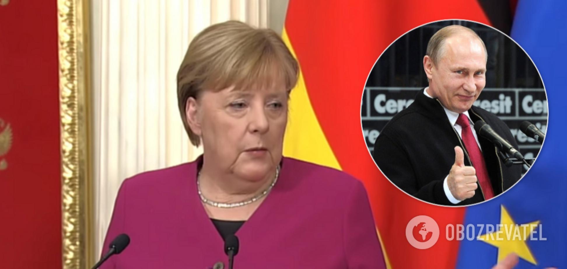 Меркель неожиданно встала на сторону Путина