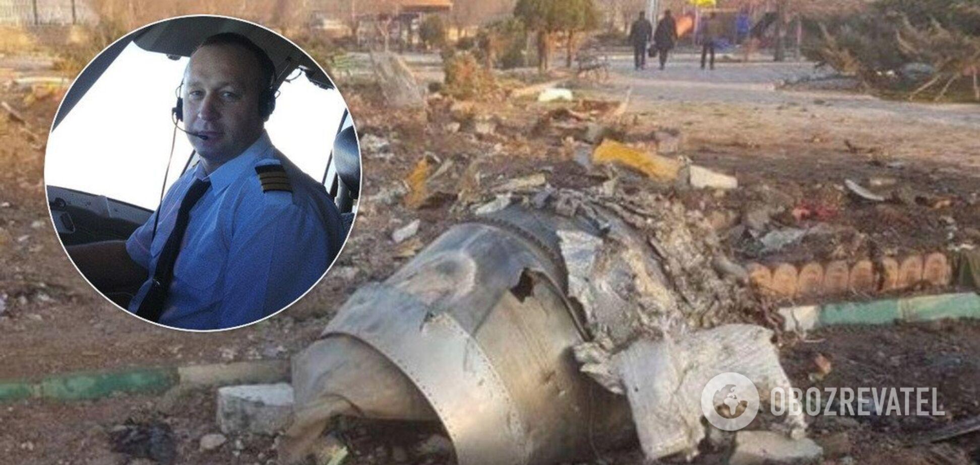 Сергей Хоменко и место падения Boeing-737