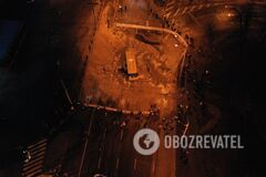В Киеве затопило Ocean Plaza: кадрыс высоты птичьего полета