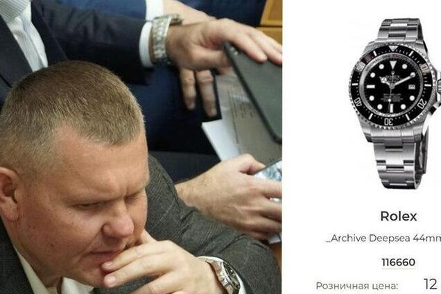 Нардеп засвітив у Раді розкішний годинник Rolex за $12 тисяч: опубліковані фото