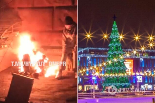 В центре Днепра заживо сгорел человек