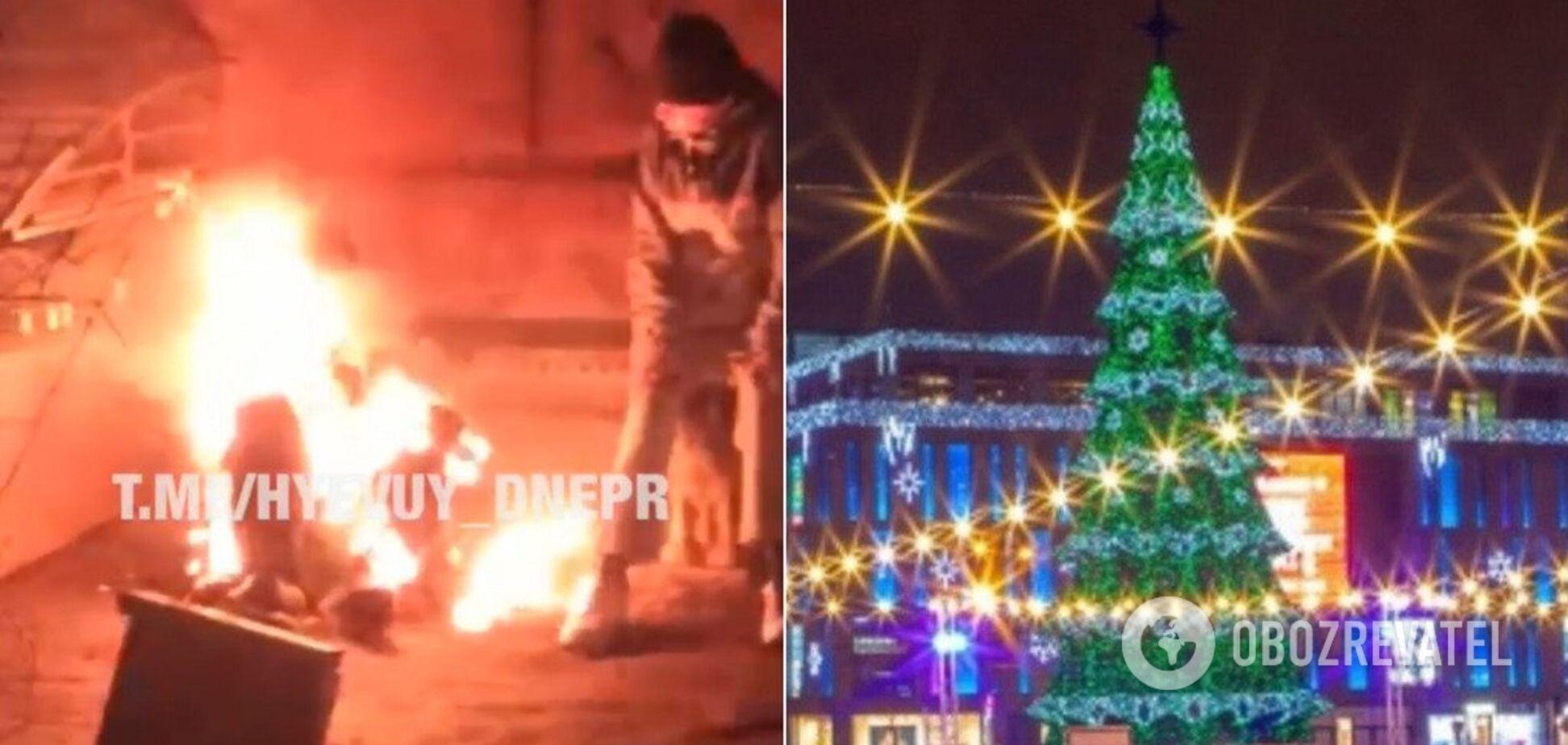 В центре Днепра заживо сгорел человек: полиция обвинила свидетелей