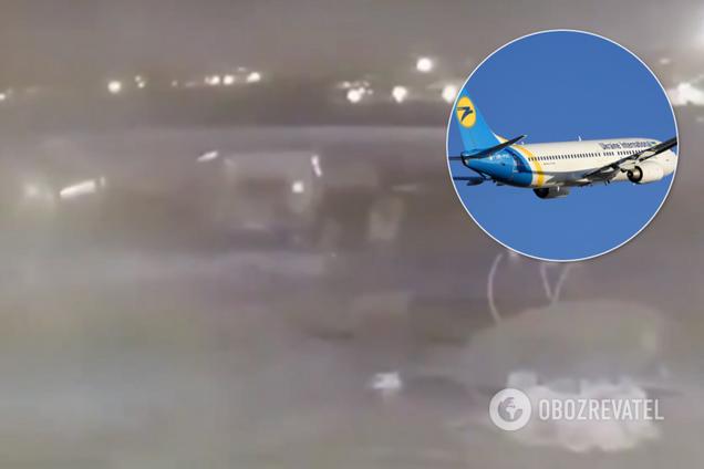 В Ірані показали момент удару по українському літаку