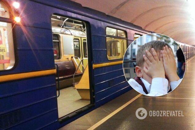 В киевском метро мужчина напал на детей
