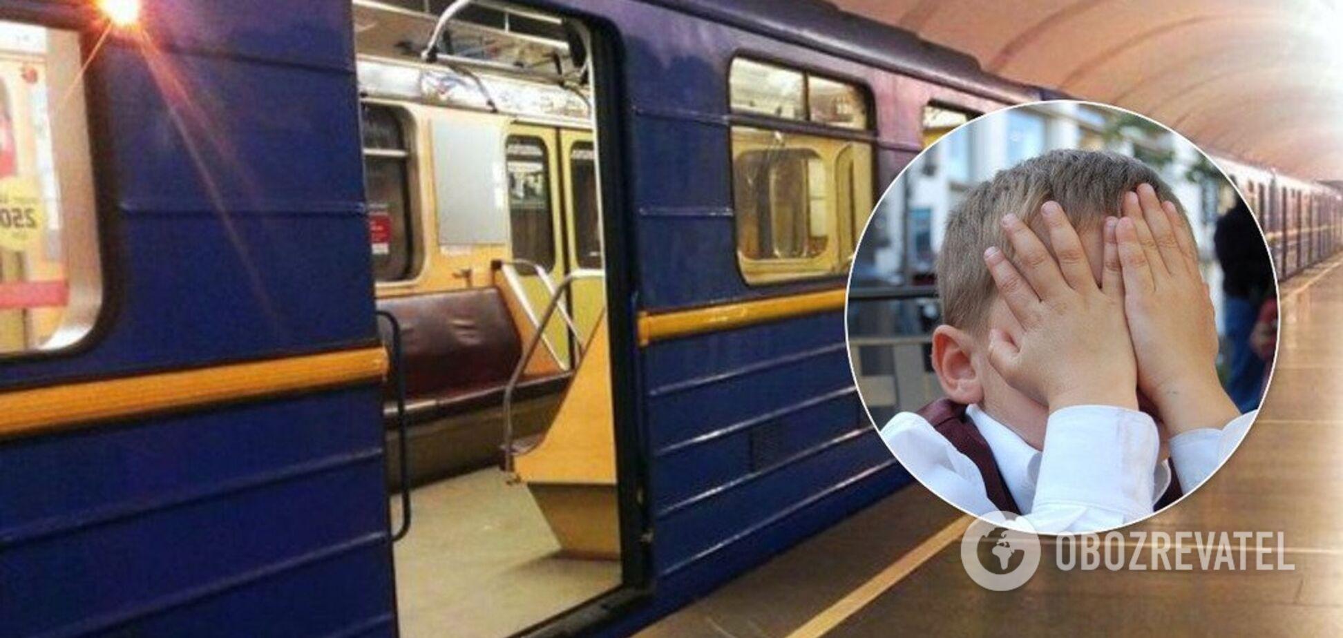 В киевском метро мужчина напал на детей: их спас военный