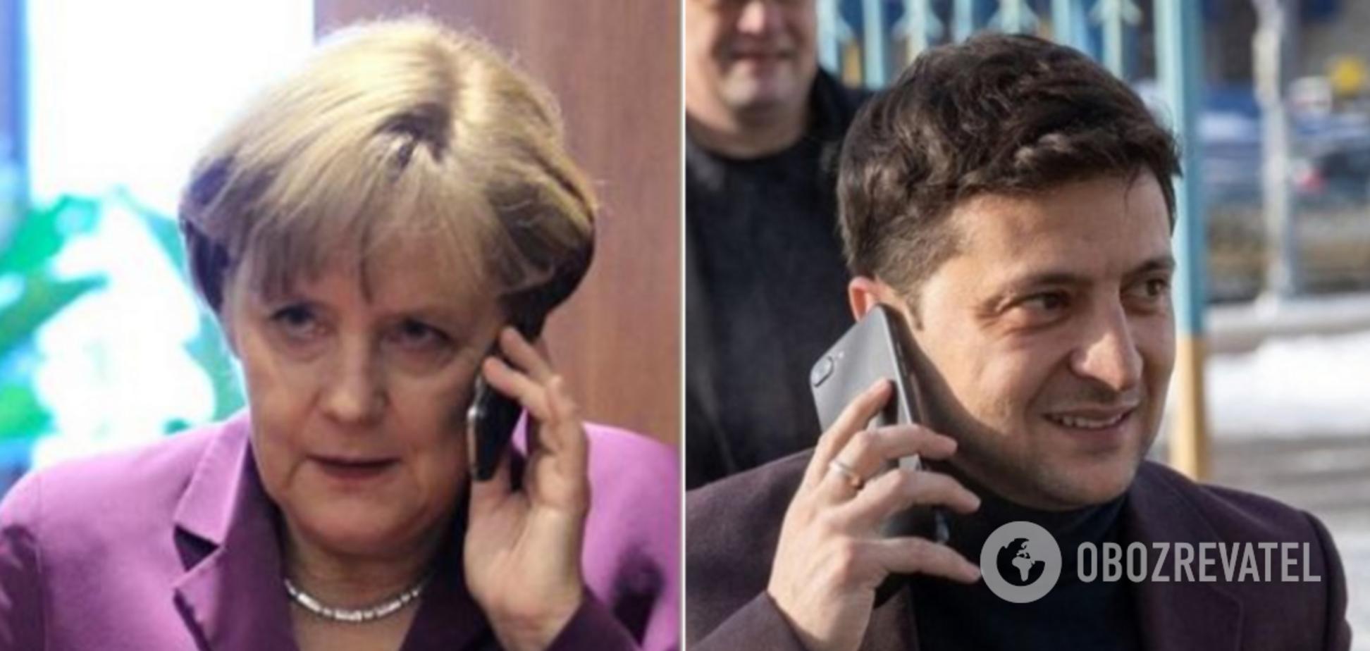 Зеленский внезапно поговорил с Меркель