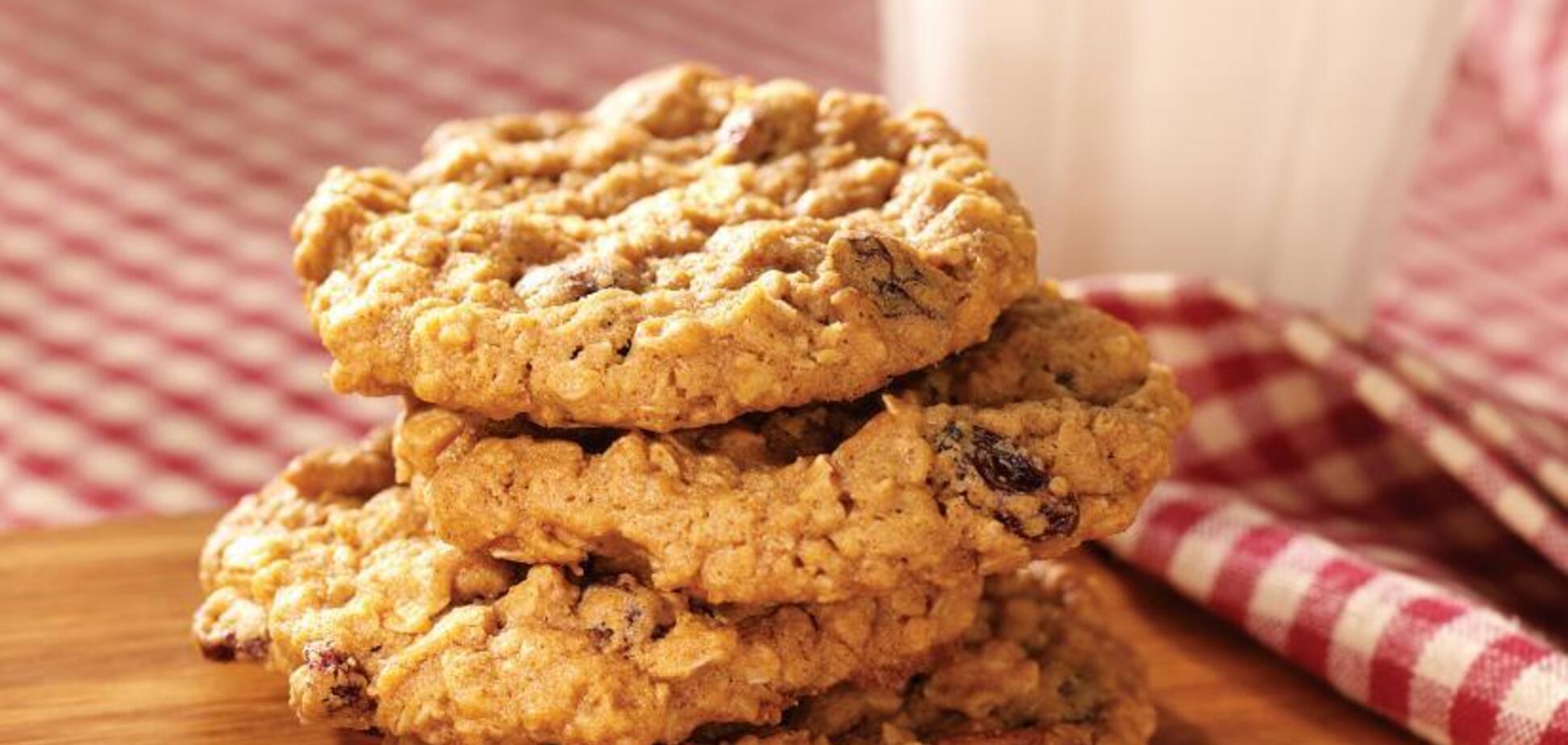 Рецепт чудесного овсяного печенья на скорую руку