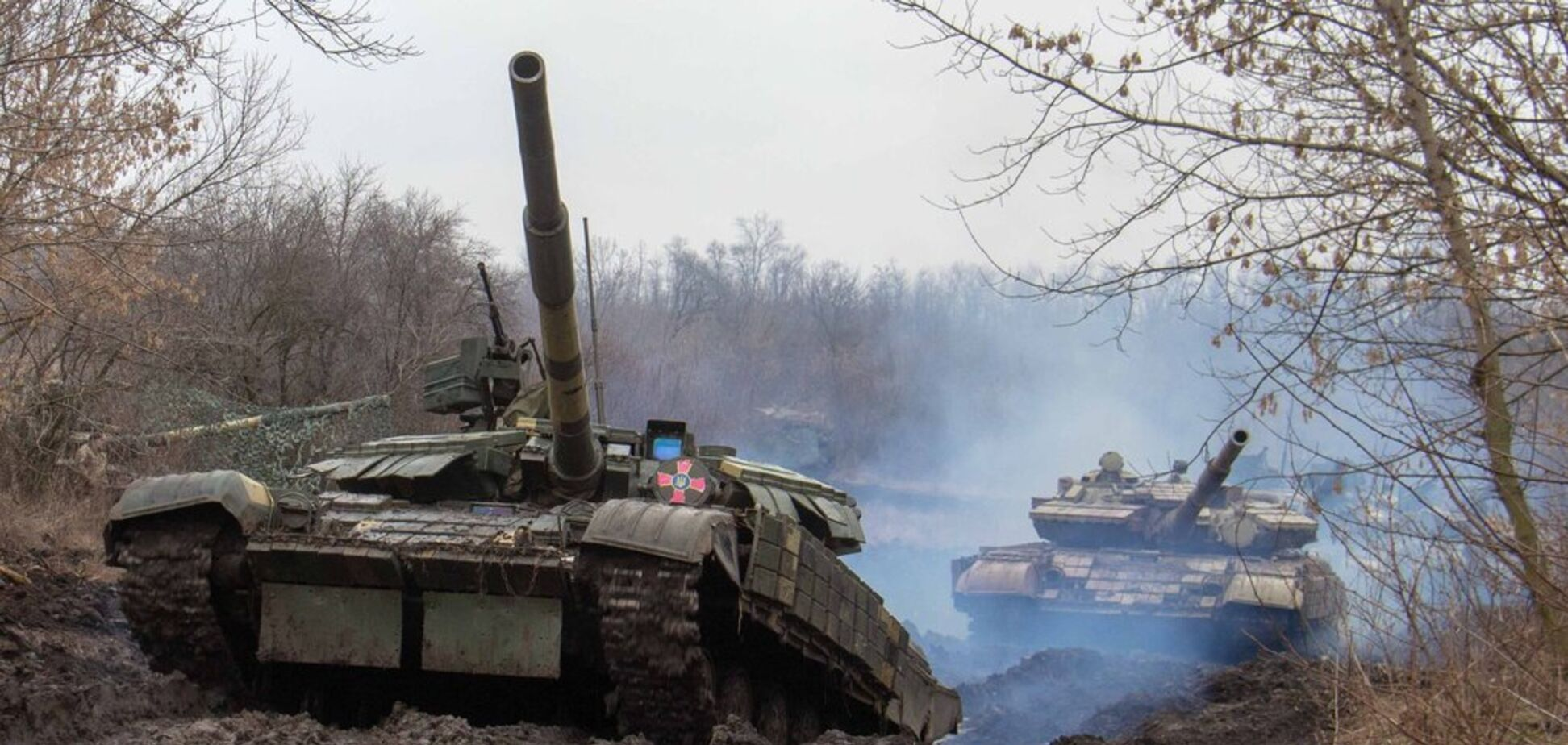 Учения танкистов ВСУ