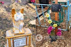 Под Днепром коммунальщики разгромили могилы на кладбище. Фото