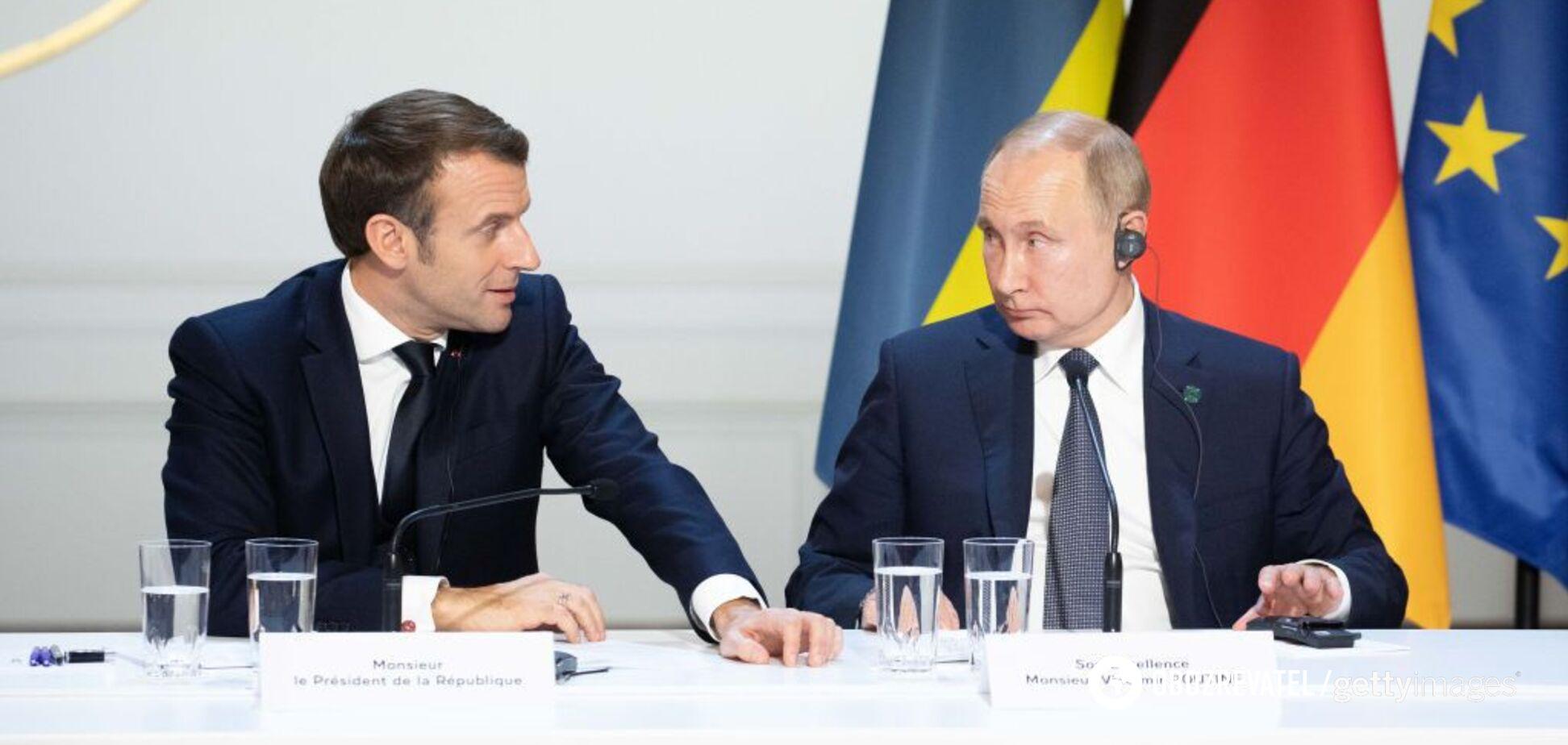 'Россия захватила Украину': Макрон сделал признание о дружбе с Путиным