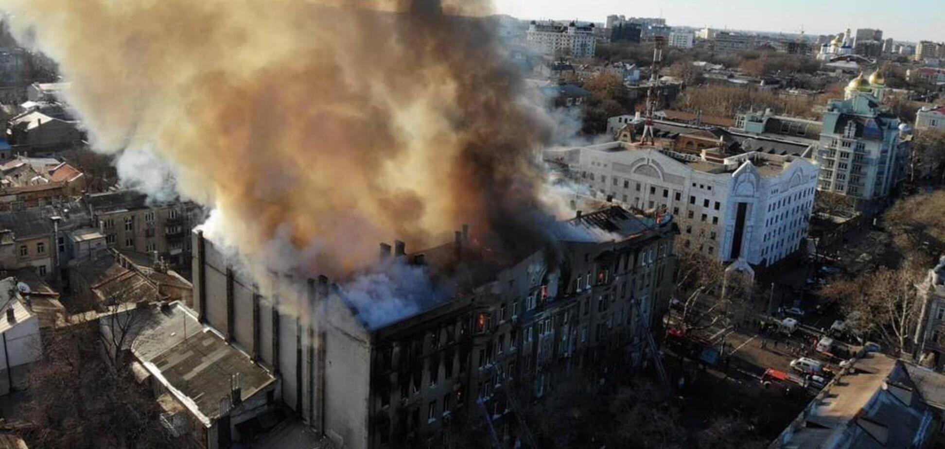 Сгоревший дом Асвадурова в Одессе