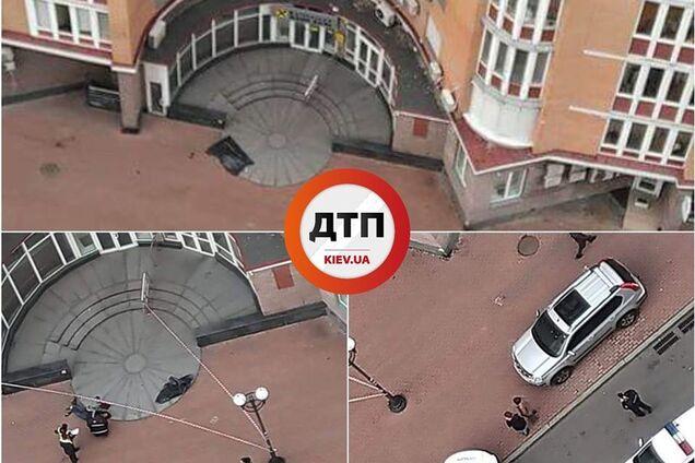 В Киеве из окна элитной многоэтажки выпал человек