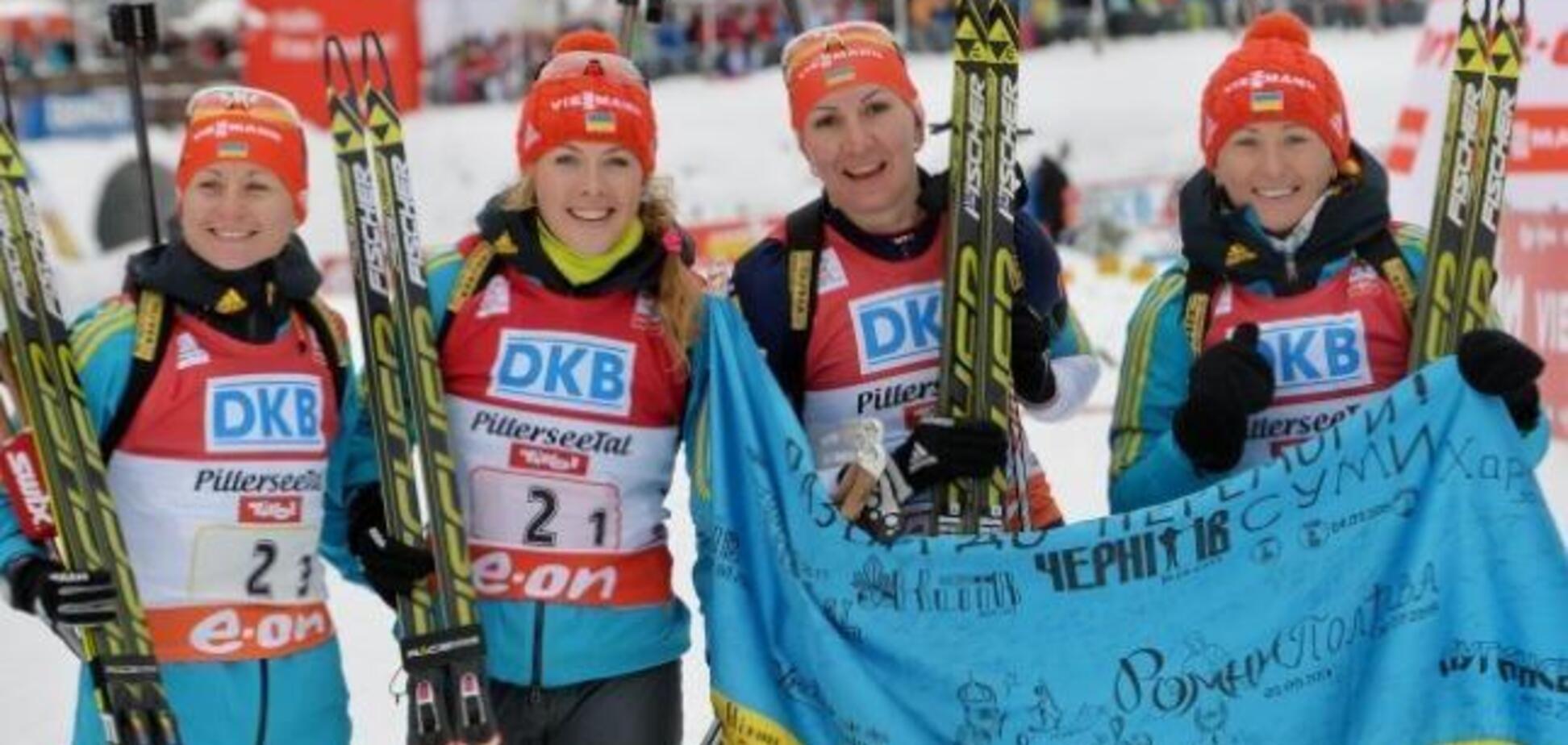 Сборная Украины по биатлону упустила медаль в эстафете на Кубке мира