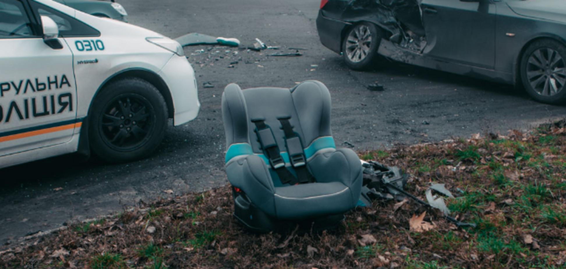 Детей спасли автокресла! В Днепре произошло жуткое ДТП. Фото