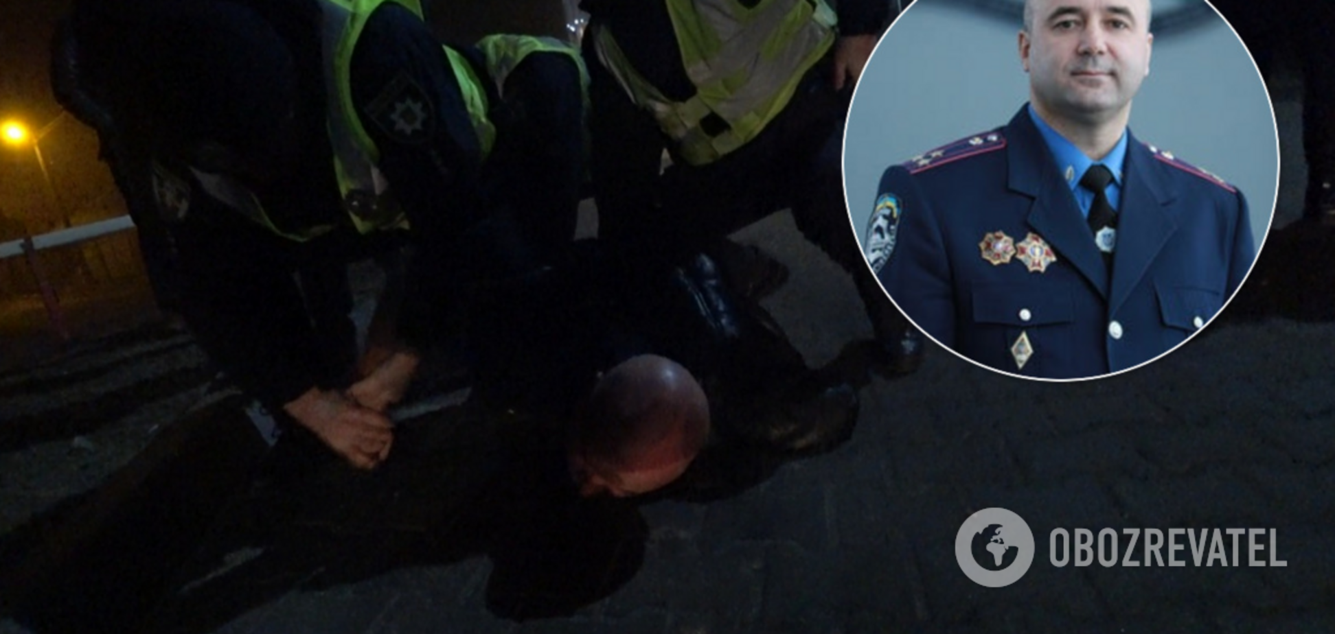 В Киеве 'повязали' экс-главу ГАИ: пьяный полковник устроил ночные гонки. Фото