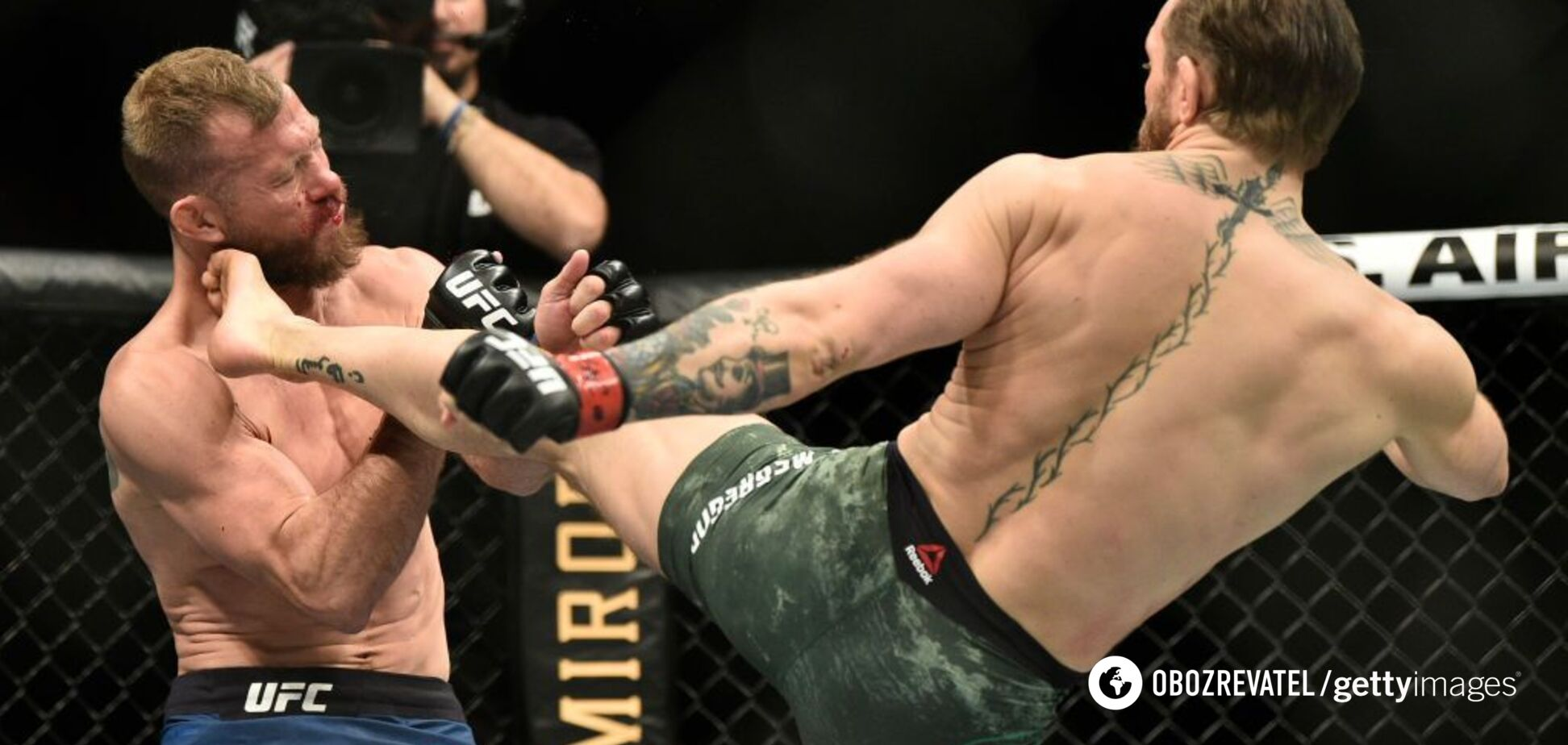 МакГрегор за 40 секунд нокаутував Серроне у UFC 246