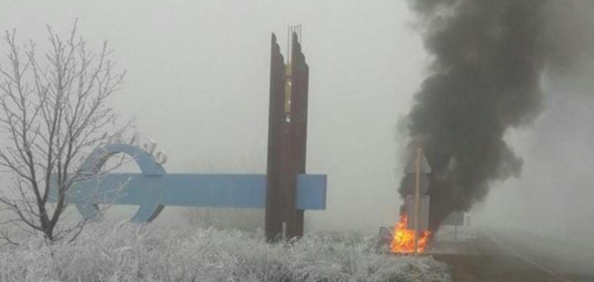 На трассе Днепр – Запорожье внезапно сгорел автомобиль. Фото