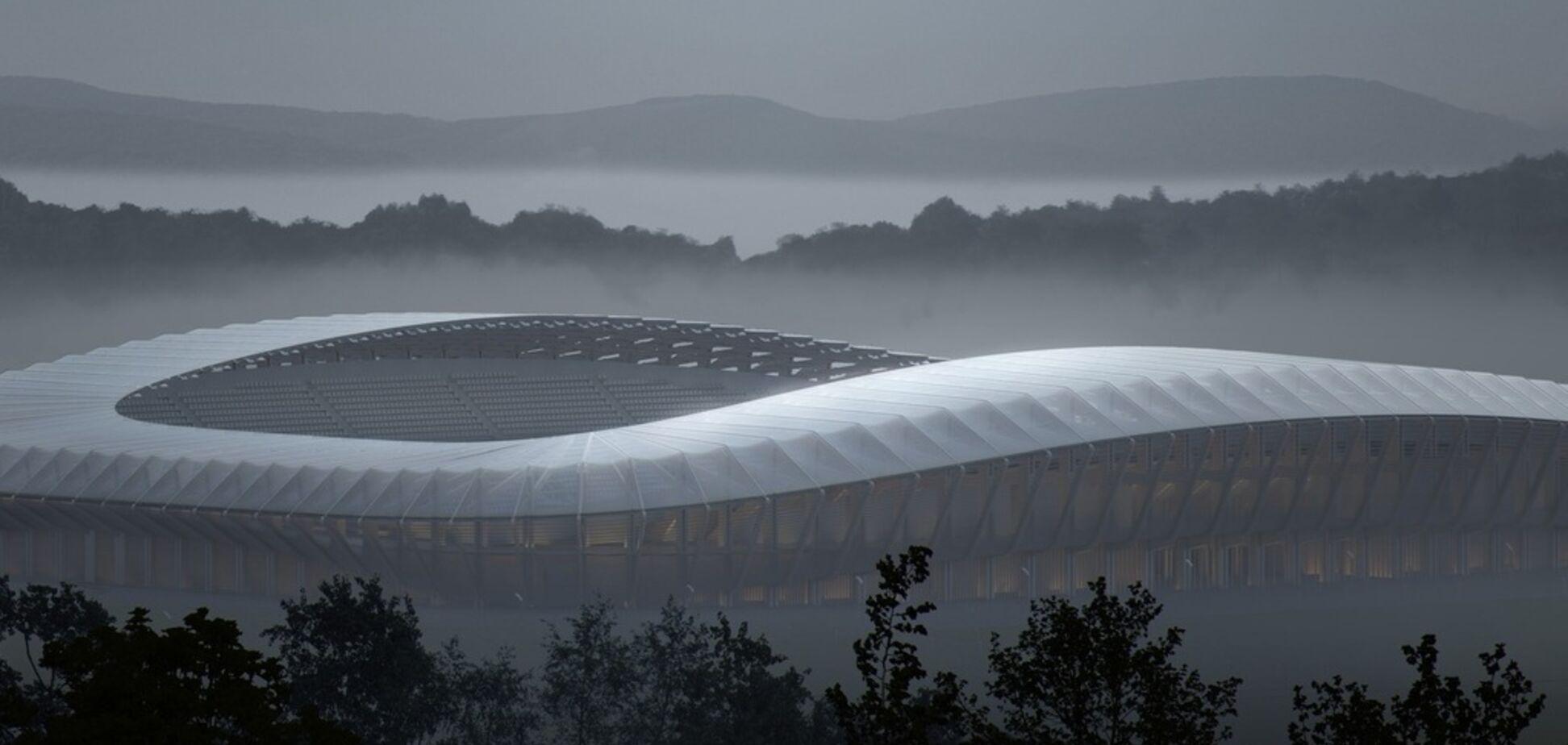 В Англии строят уникальный 'зеленый' стадион по проекту культового дизайнера